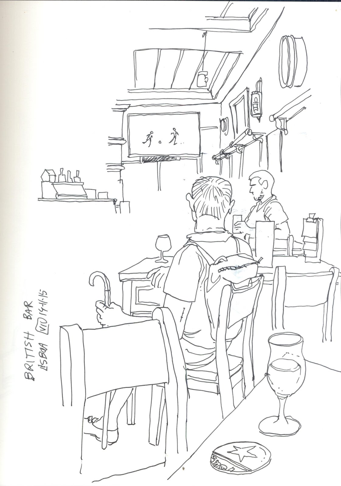 Activity 6: Pub Crawl: Draw If You Are Sober | Urban Sketchers
