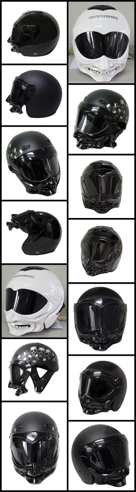 Skull Motorcycle Helmet Visor