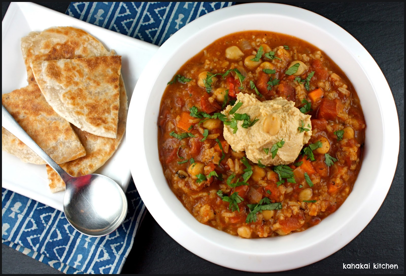 Kahakai Kitchen: Indian-Spiced Tomato, Rice, & Chickpea Soup (With a ...