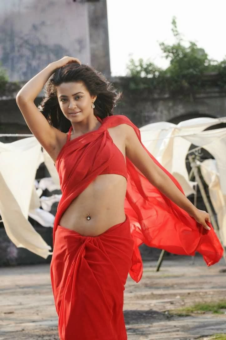 Surveen Chawla - Hot Wet Saree Photos from Telugu Movie Itlu Prematho