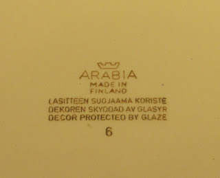 Arabia of Finland maker's mark from 1964 to 1971