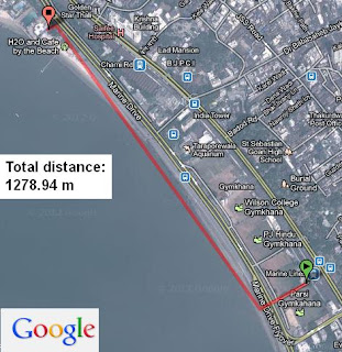 Distance between two places example