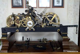 Maquina número 6 del reloj de Candelario Salamanca de 1925