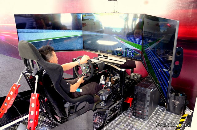 We got to enjoy Volkswagen's unique driving simulator that day as well