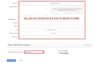 Daftar dan Verifikasi Blog Di Alexa