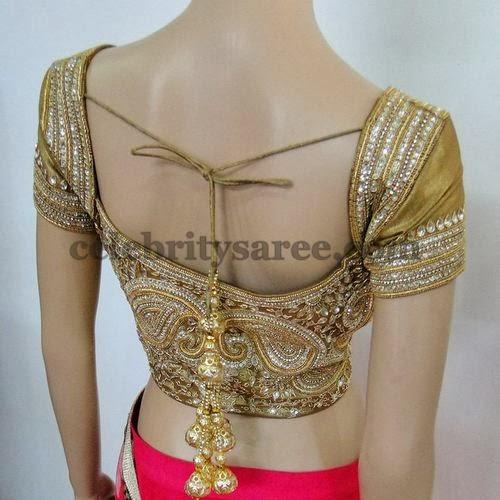 Glittering Saree Blouses by Varuna Jithesh
