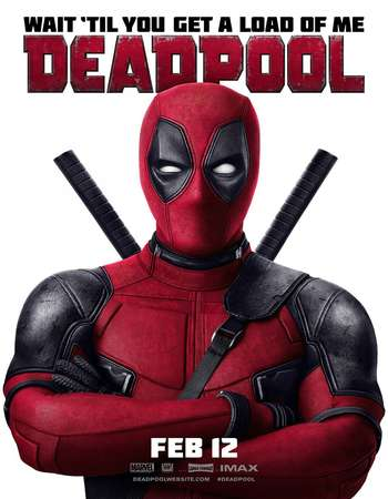 Poster Of Deadpool 2016 Dual Audio 300MB HDTS  Free Download Watch Online