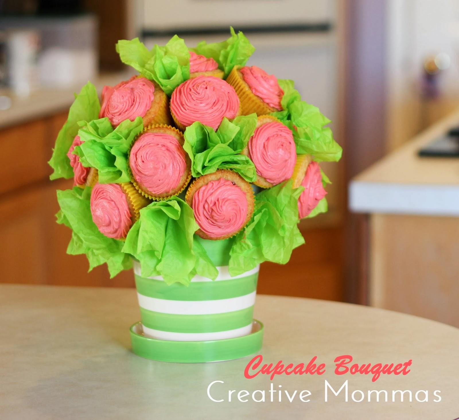 Creative Mommas: Cupcake Bouquet Tutorial