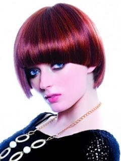 burgundy hairrstyle
