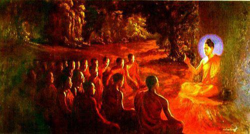 Buda enseñando