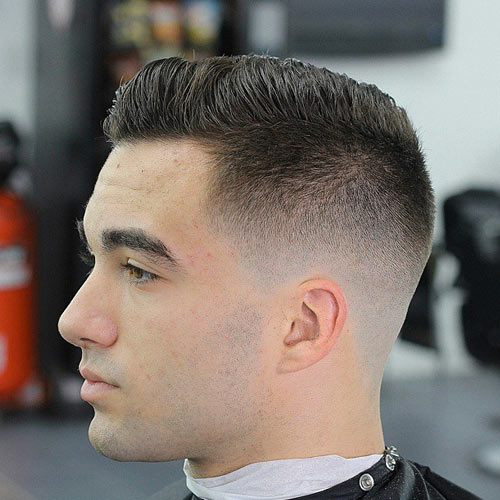 men s haircut with shaved temples blog2