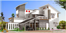 Contemporary Style Unique House - Kerala Home Design And