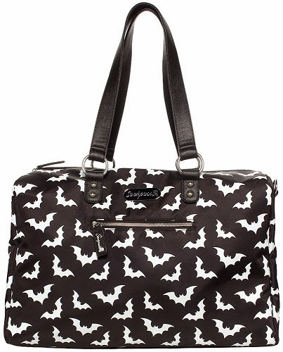 Sourpuss Sville Bats Travel Bag This Gothic Tote Is Perfect For All Your Beach Necessities Towel Swimsuit Snacks Beauty Magazine