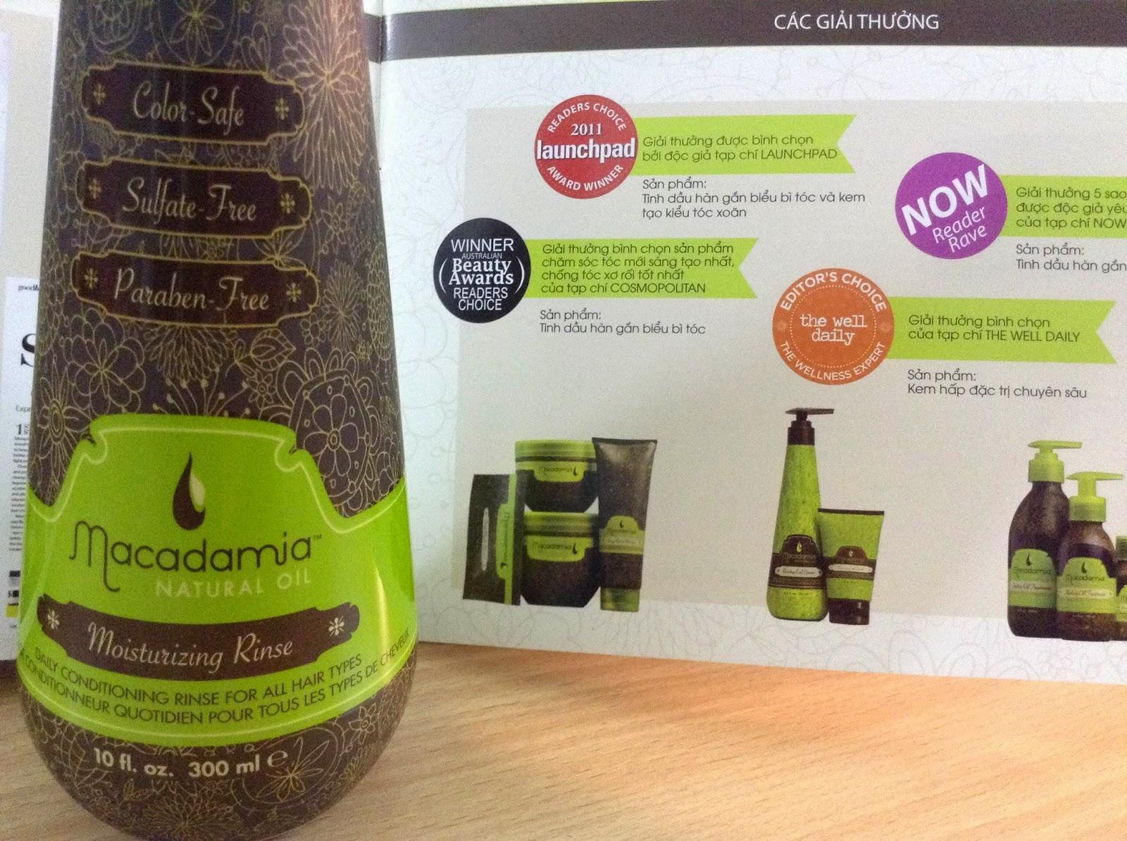 dầu xả macadamia, dầu xả maca, dầu xả dưỡng ẩm, chăm sóc tóc, phục hồi tóc, tóc đẹp