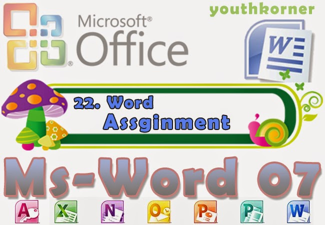 MS Word Assignment for students