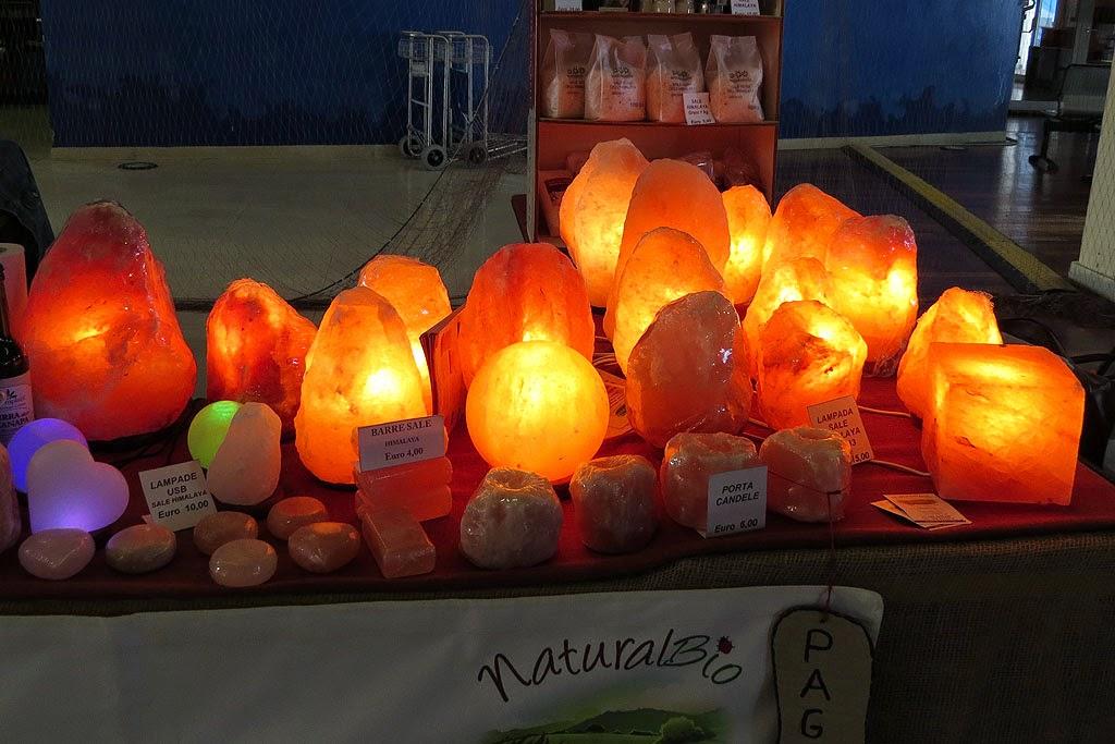 Lampade di sale himalayano, Naturalia, Cruise Terminal, Livorno