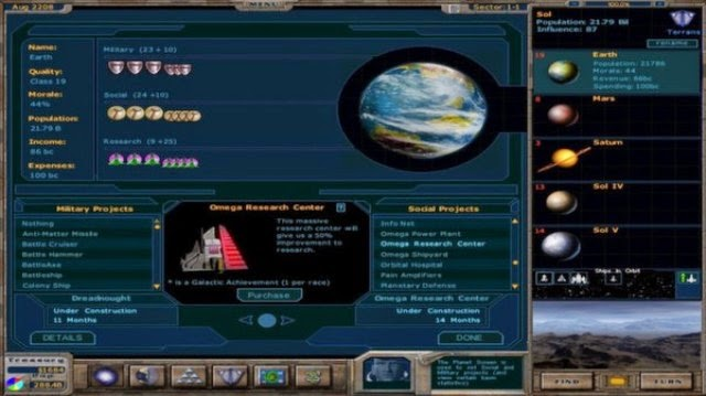Galactic Civilizations 1 Ultimate PC Gameplay