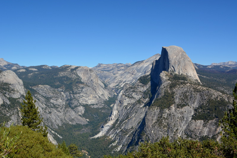 cozy birdhouse | yosemite national park, view of half dome from glacier point