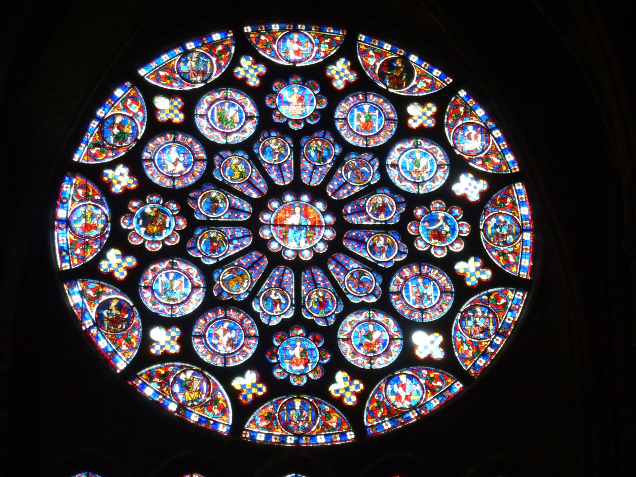 chartres cathedral rose window and lancets viewing gallery