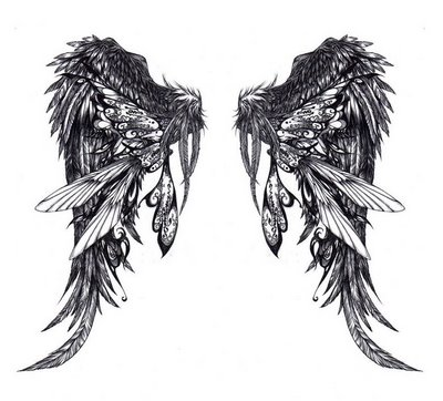 Angel Wing Tattoos on Posted By Exclusive Tattoos On Labels Angel Tattoos Angel Wing Tattoos