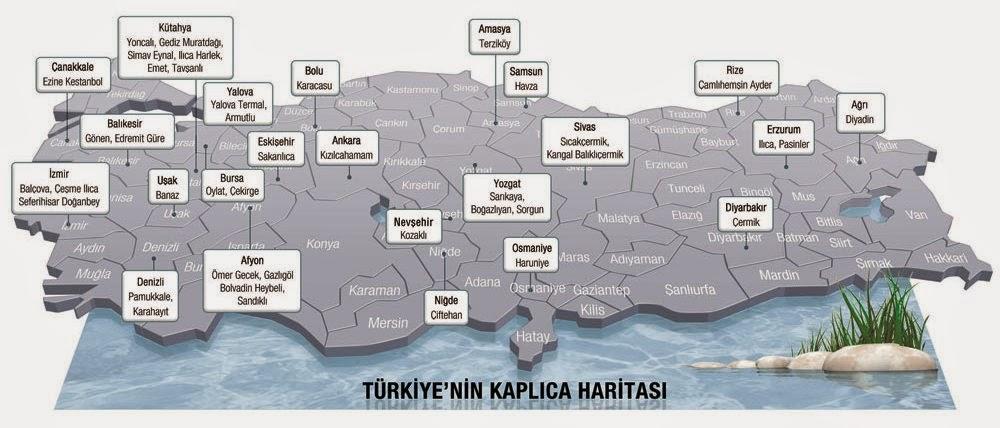 Türkiye Kaplıcalar Haritası