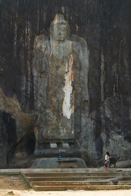 A Photograph of the Buddha Statue at Buduruwagala Sri Lanka
