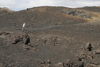 Landscape/Moonscape on Isabela Hiking Up Volcan Sierra Negra