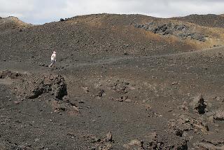 Landscape/Moonscape on Isabela Hiking Up Volcan Sierra Negra