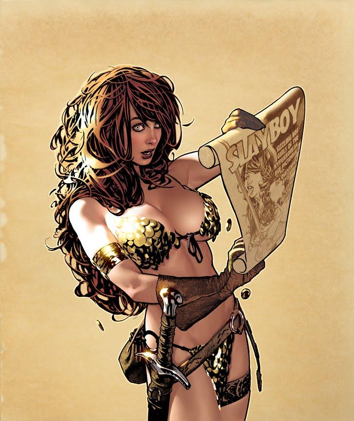 Conan o Bárbaro - Portal ImagineFX_53_Cover_by_AdamHughes