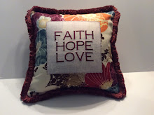 Faith Hope Love - bold print -16""