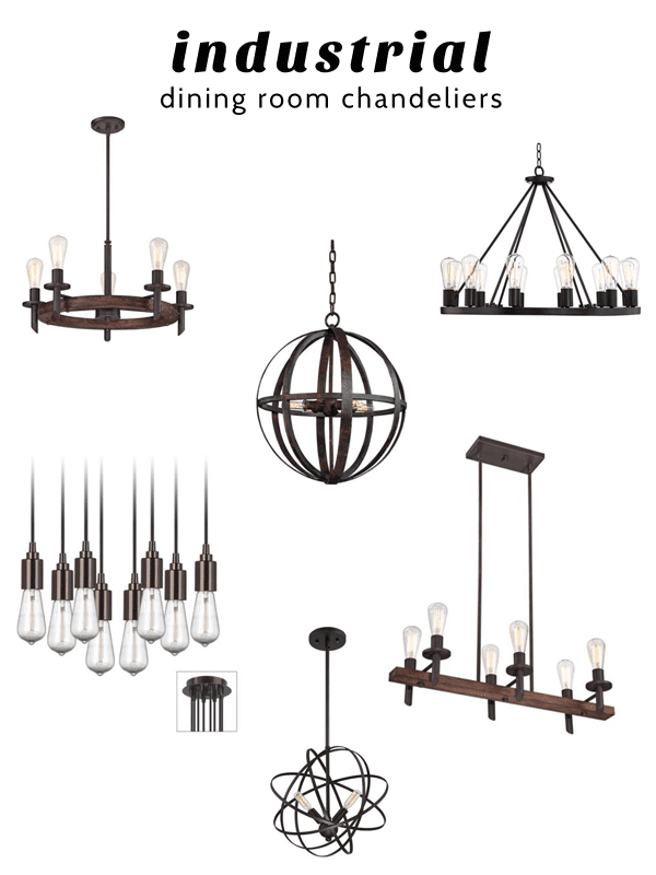 oleander and palm industrial dining room chandeliers