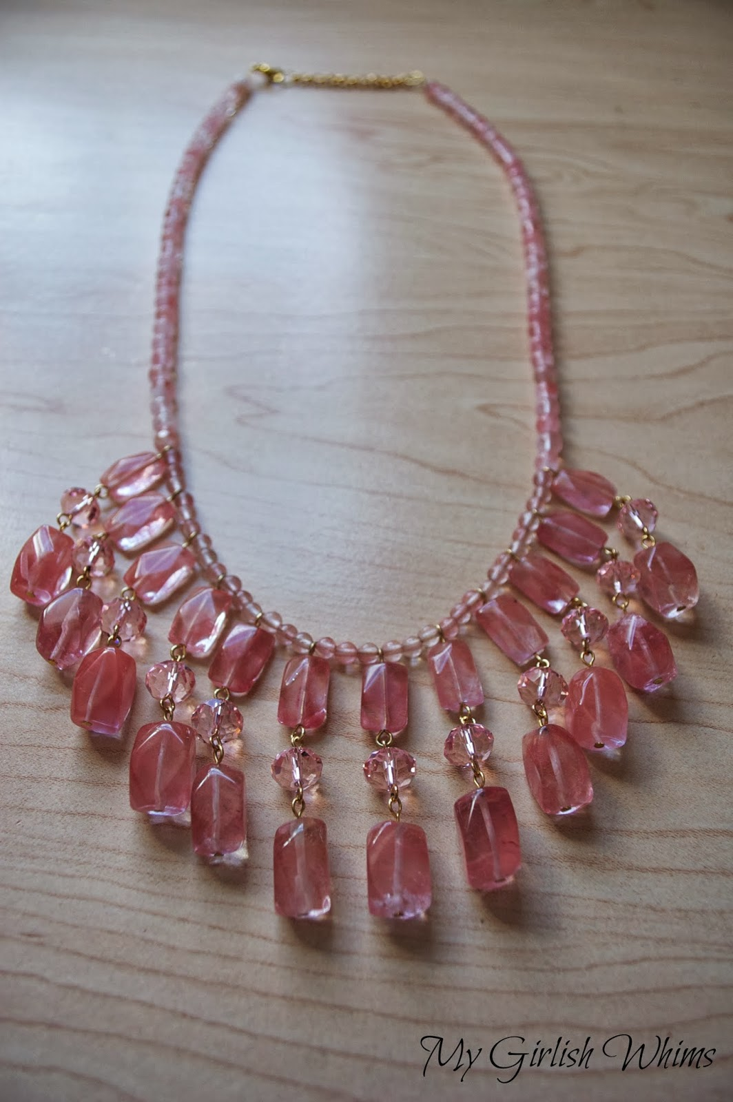 DIY Beaded Dangle Necklace - My Girlish Whims