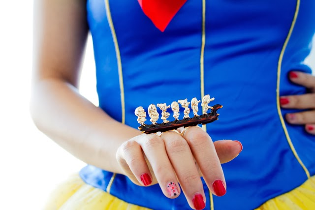 Snow white costume with seven dwarfs ring from sheinside, Halloween Costume