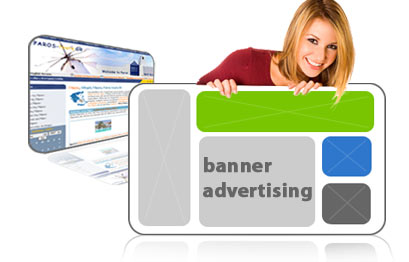 What is display advertising or banner advertising?
