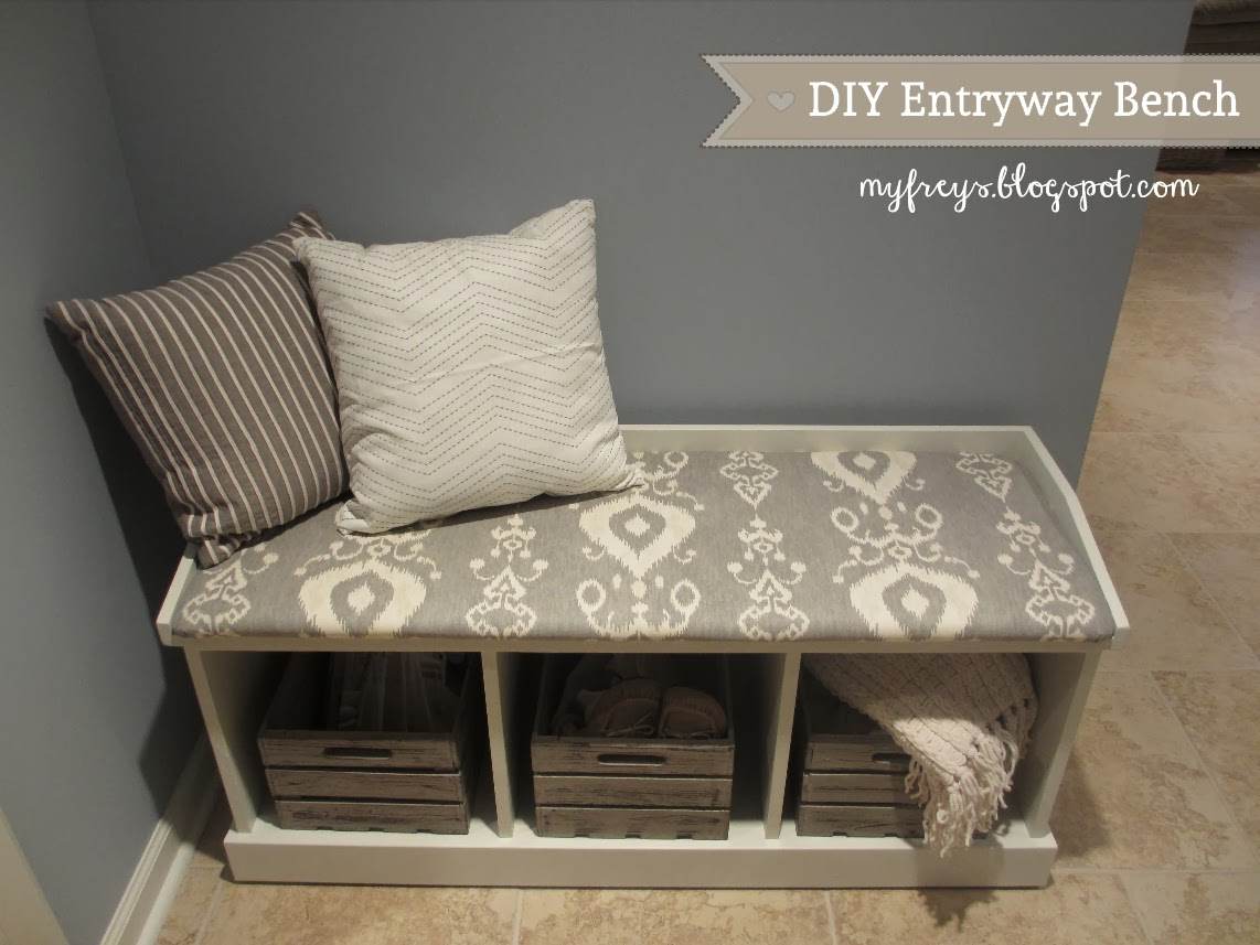 Foyer Bench Diy : Chad and elana frey diy entryway bench