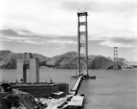 Golden Gate Bridge under constructuion