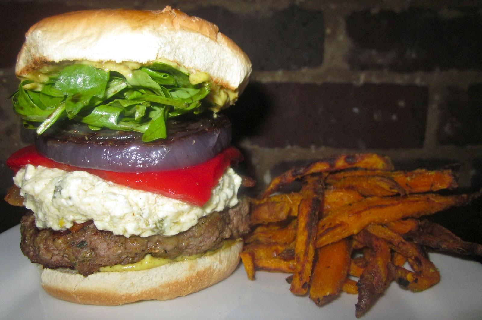 Haute + Heirloom: My Big Fat Greek Lamb Burgers with Crazy Feta Spread ...
