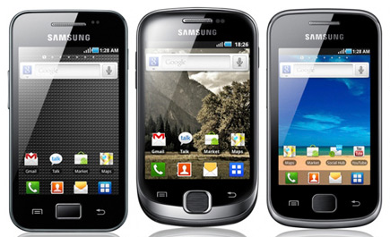 ace vs fit vs gio Samsung galaxy