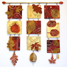 Triple falling leaves panel