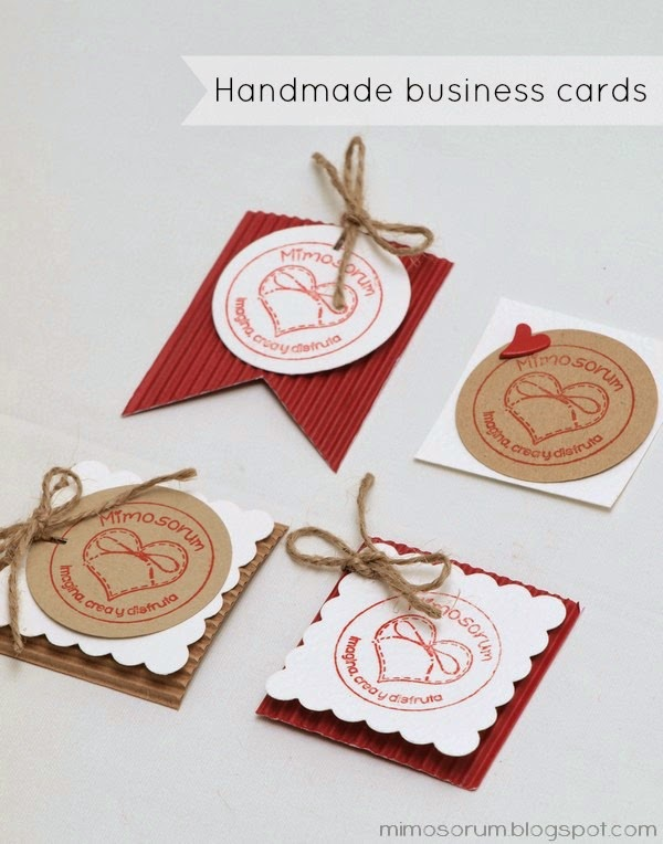 Handmade business cards. Mimosorum Blog.