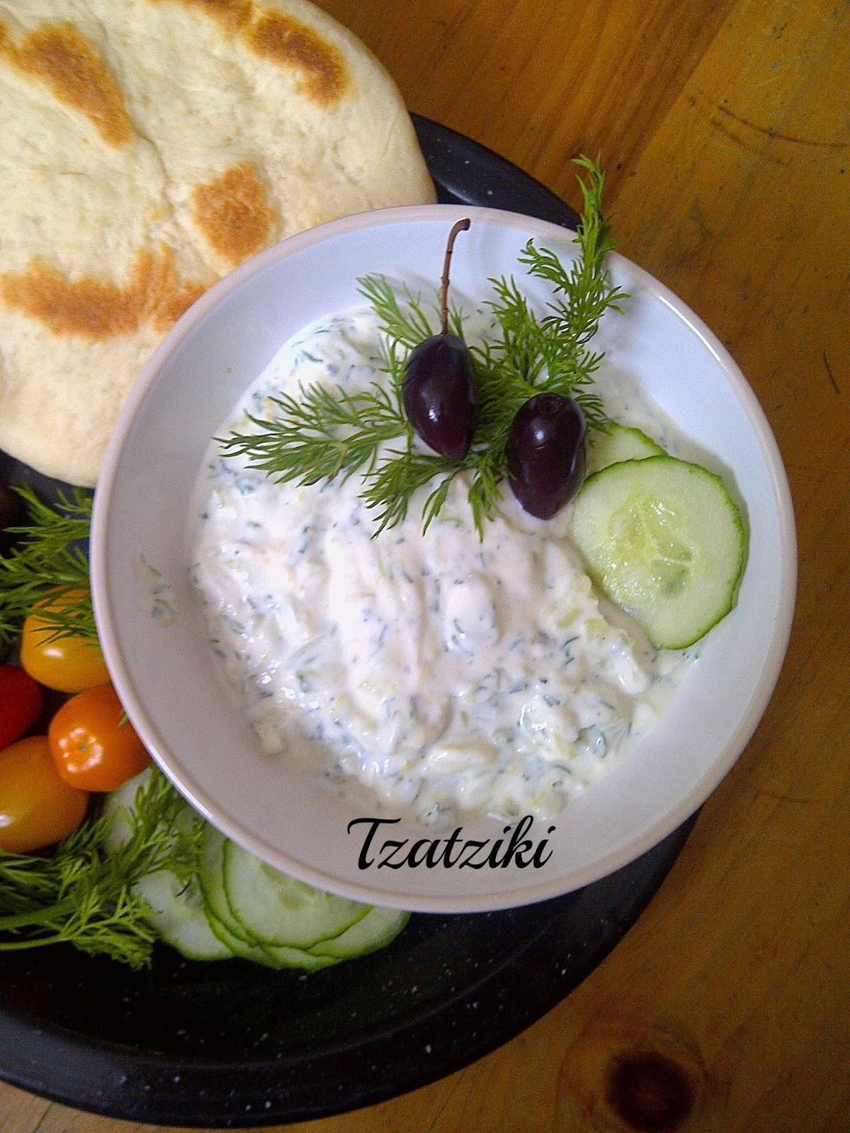 Tzatziki - Skip the pitas and dip the veggies!
