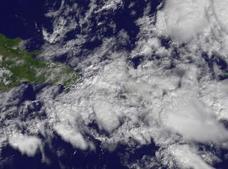 Wetter Dominikanische Republik: Satellitenbild und Radarbild lassen starken Regen in Punta Cana und Cabarete erwarten, Wettervorhersage Wetter, Dominikanische Republik, Punta Cana, November, aktuell, 2011, Satellitenbild Satellitenbilder,