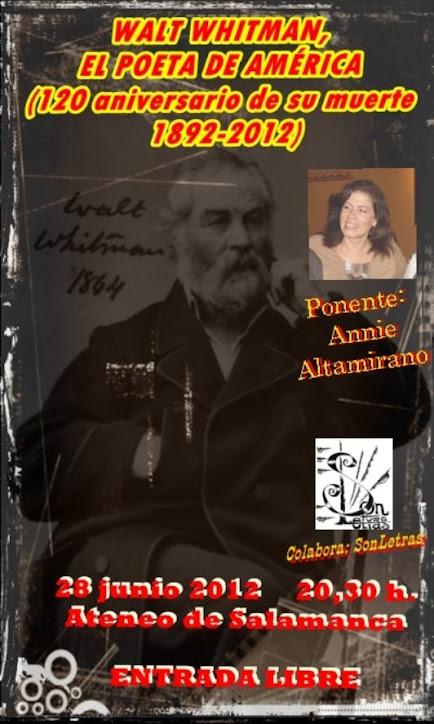 EN EL ATENEO HABLAMOS DE WALT WHITMAN, EL GRAN POETA DE AMÉRICA
