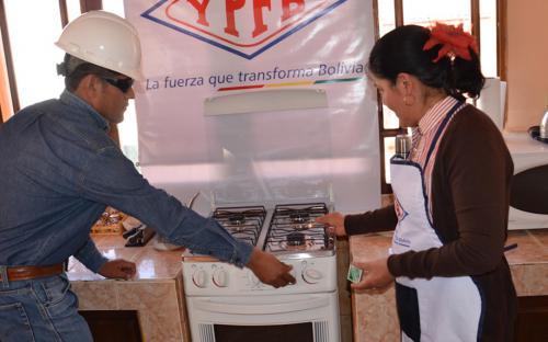 Gas domiciliario en Bolivia
