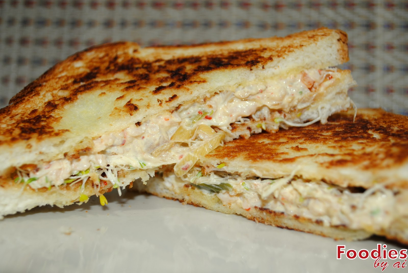 FOODIES by ai: Kimchi and Egg Grilled Sandwiches