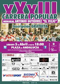Cartel XXXIII Carrera del Viejo, Úbeda 6/4/2014