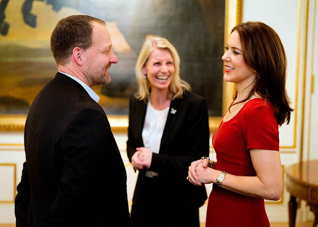 Crown Princess Mary give a Christmas reception for the Mary Foundation's cooperation partners