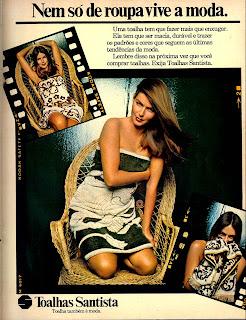 propaganda toalhas Santista - 1979.  os anos 70; propaganda na década de 70; Brazil in the 70s, história anos 70; Oswaldo Hernandez;