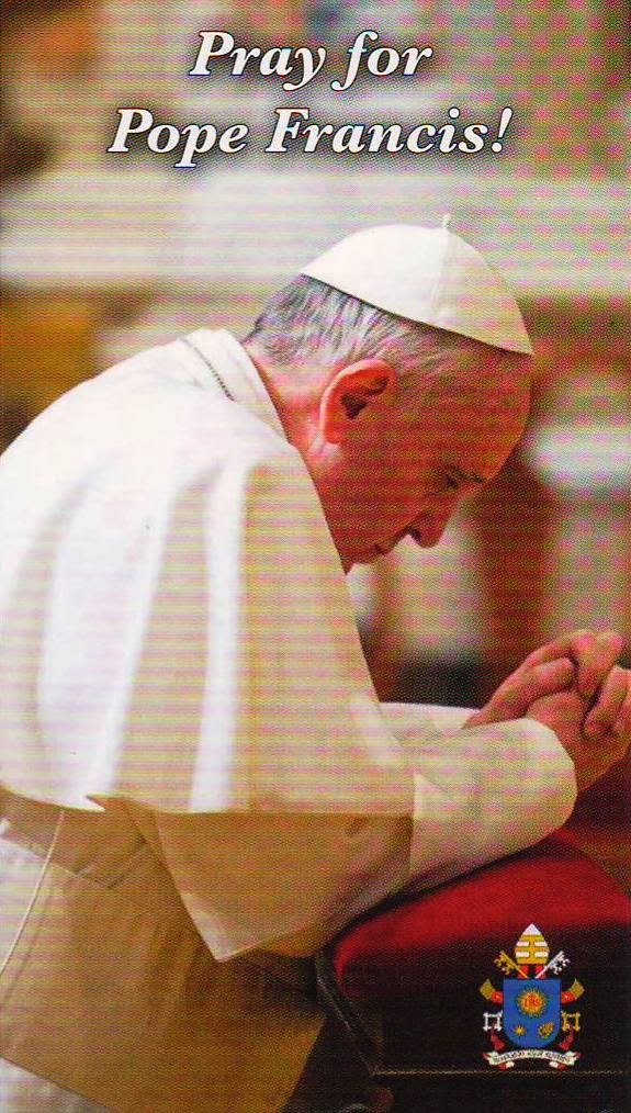 Let us Pray for the Pope! Click  Photo for  Holy Father's Prayer Intentions for 2014