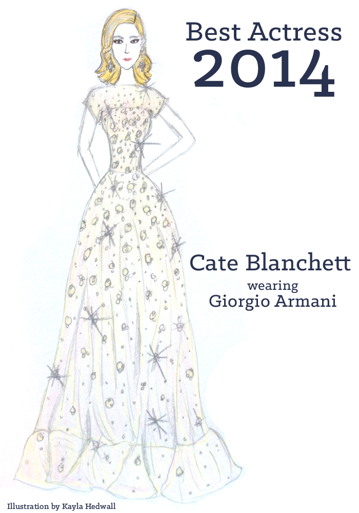 Best Actress dress 2014: Cate Blanchett | Illustration by Kayla Hedwall